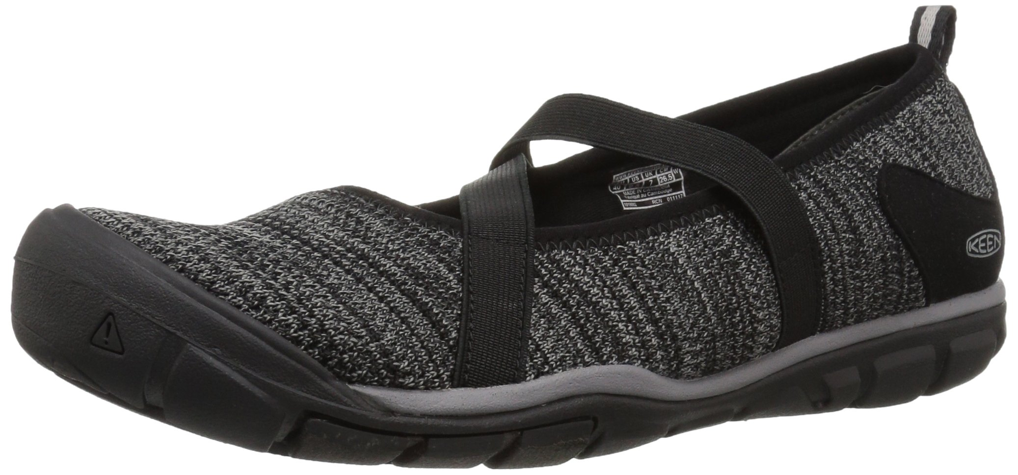 KEEN Women's Hush Knit MJ-W Hiking Shoe, Black/Gargoyle, 7 M US