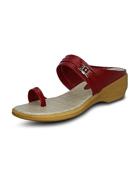 Kielz Red Women's Wedges Sandals