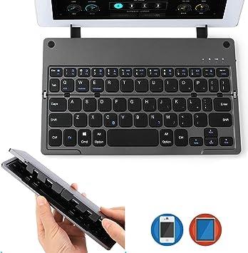 AGPTEK Teclado Bluetooth Plegable, Ultra Delgado, Ligero ...