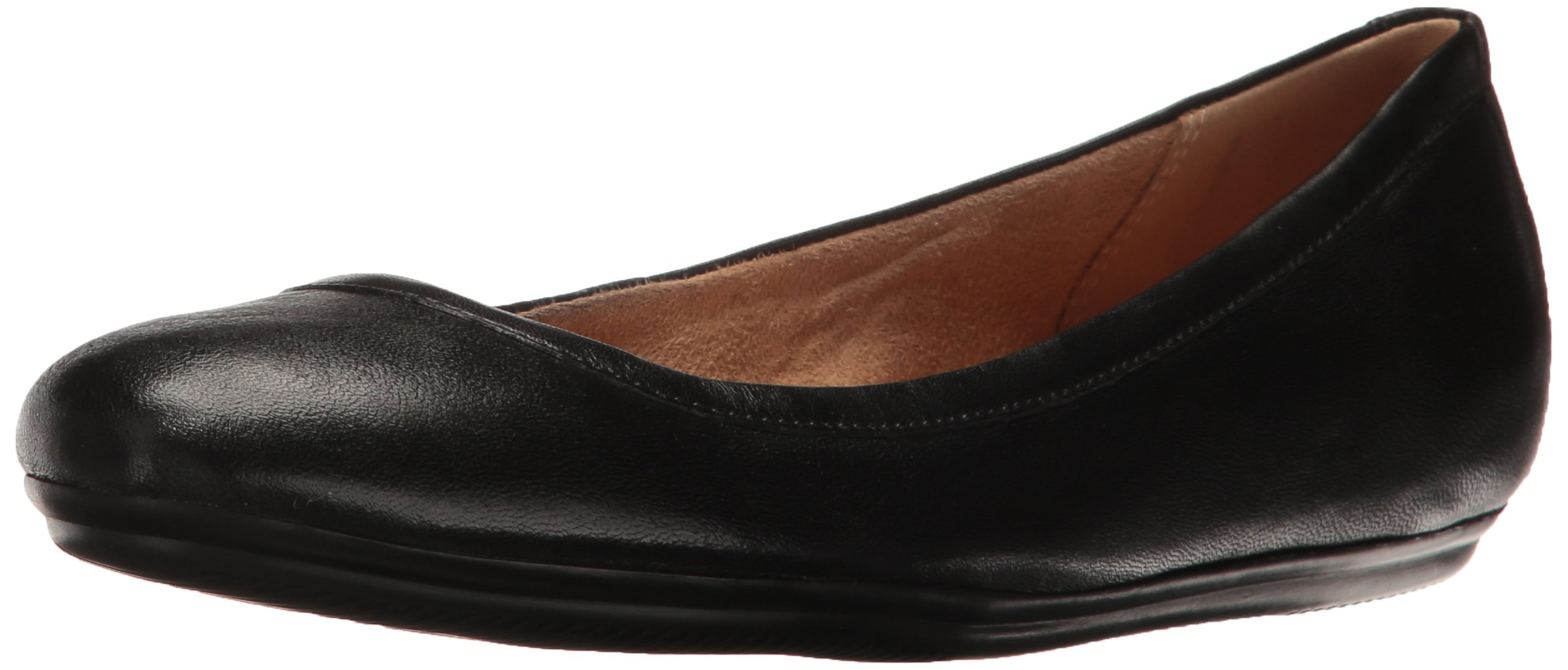 Naturalizer Women's Brittany Ballet Flat, Black, 8.5 M US