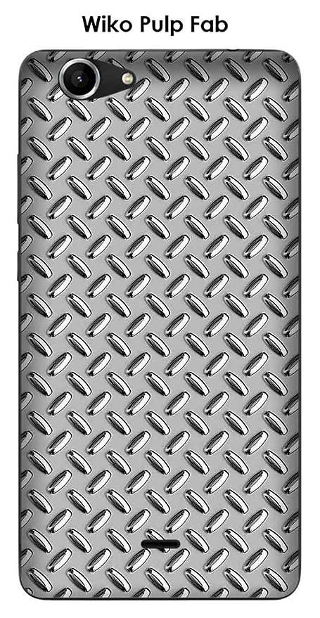 Onozo Carcasa Wiko Pulp Fab Design metal plata: Amazon.es ...