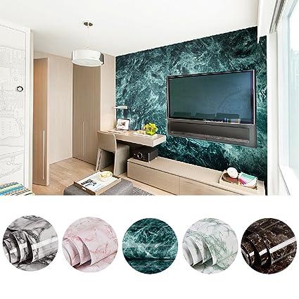 KINLO 2 Rollos Muebles Pegatinas de Mármol PVC Papel Pintado Adhesivo Pegatinas Impermeable para Mueble /Pared/Vidrio/Electrodomesticos Tamaño 0,61 ...
