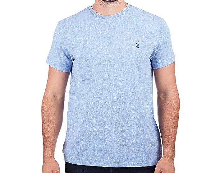 Ralph Lauren - Camiseta - Liso - Manga Corta - para Hombre: Amazon ...