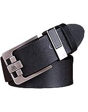 Balnna Men Genuine Leather Dress Belt with Single Prong Buckle