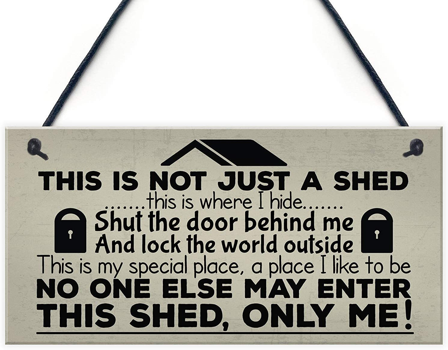 Aianhe This is Not Just a Shed Wood Garden Signs for Friends, Families Gifts 10 x 5 Inches