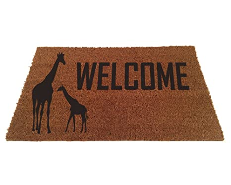 Giraffe Welcome Door Mat (18u0026quot ...