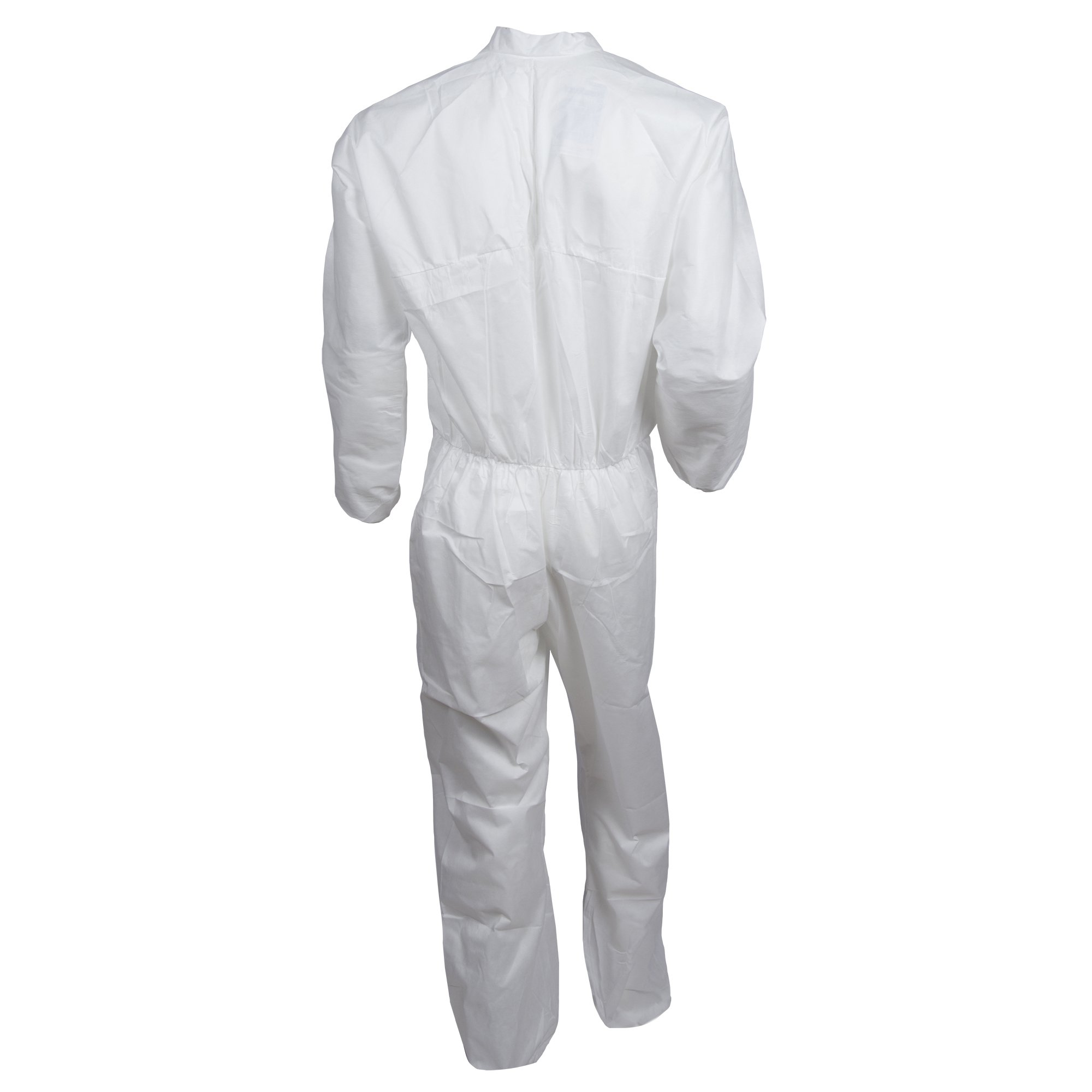 Kleenguard A10 Light Duty Coveralls (10616), Zip Front, Elastic Wrists, Breathable Material, White, 2XL, 25 / Case by Kimberly-Clark Professional (Image #2)