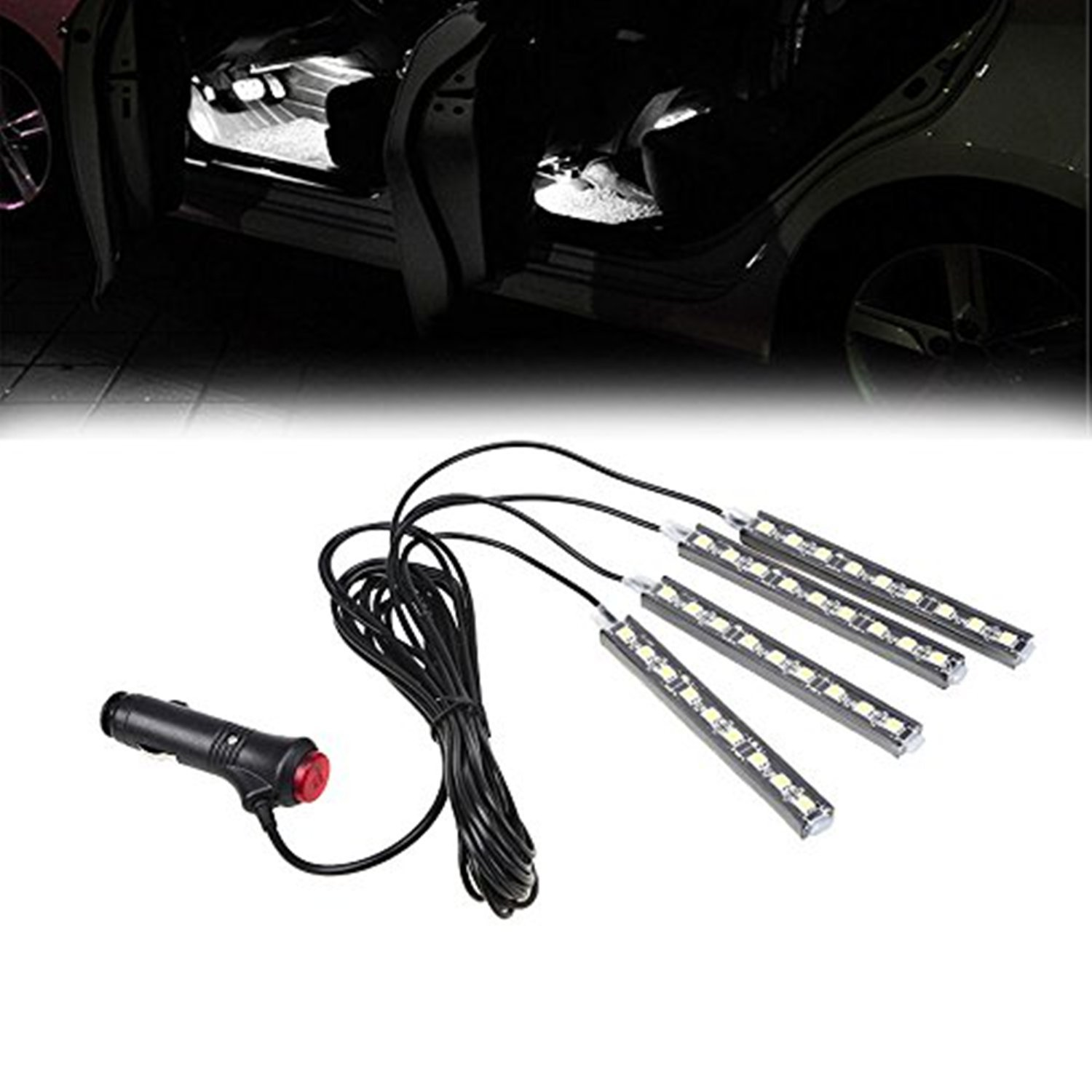 Pink SJDZ Car Interior Decoration Led Interior Underdash Lighting Kit Neon lighting
