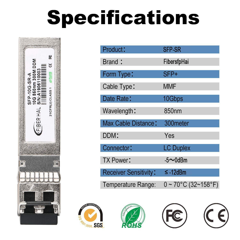 850nm MMF Gigabit Mini-GBIC Reach 550m FiberHal for D-Link DEM-311GT SFP SX Module 1000Base-SX SFP Optic Transceiver