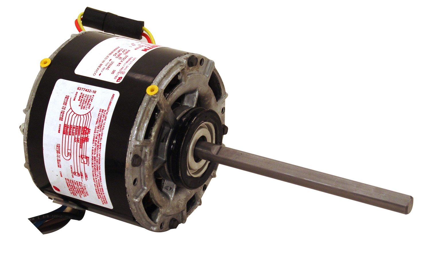 AO Smith 595  5.0-Inch Frame Diameter 1/8 HP 1075 RPM 277-Volt 0.83-Amp Sleeve Bearing Blower Motor by AO Smith