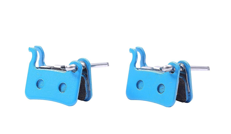 2 paia bicicletta pastiglie freno a disco per Shimano Deore M535 M595 M596 Deore XT M765 M775 M776 XTR M965 M966 M975 LX M585 SLX M665 T665 Multi-metallic