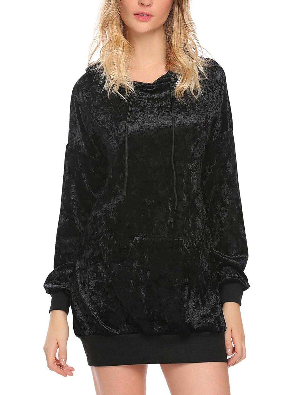 Zeagoo Women's Casual Lightweight Hoodie Sweatshirt Loose Pullover Tunic Top