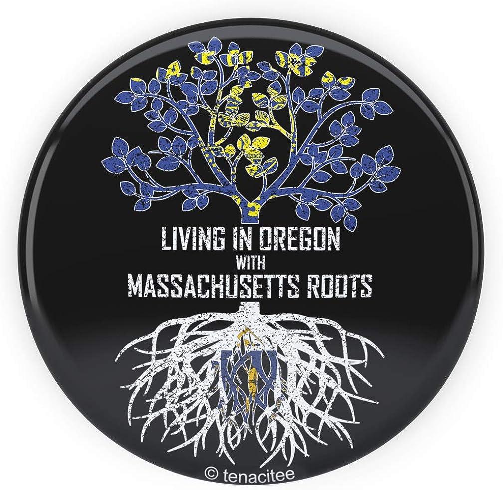 Tenacitee Mens Living in Massachusetts Oklahoma Roots T-Shirt