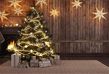 Country Christmas Background Wallpaper.Amazon Com Csfoto 5x3ft Background For Christmas Tree