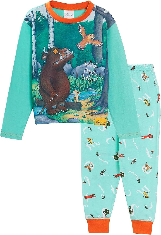 The Gruffalo Conjunto de pijama de personaje de cuerpo entero, top de manga larga con bajos con puños a juego para Unisex Niños