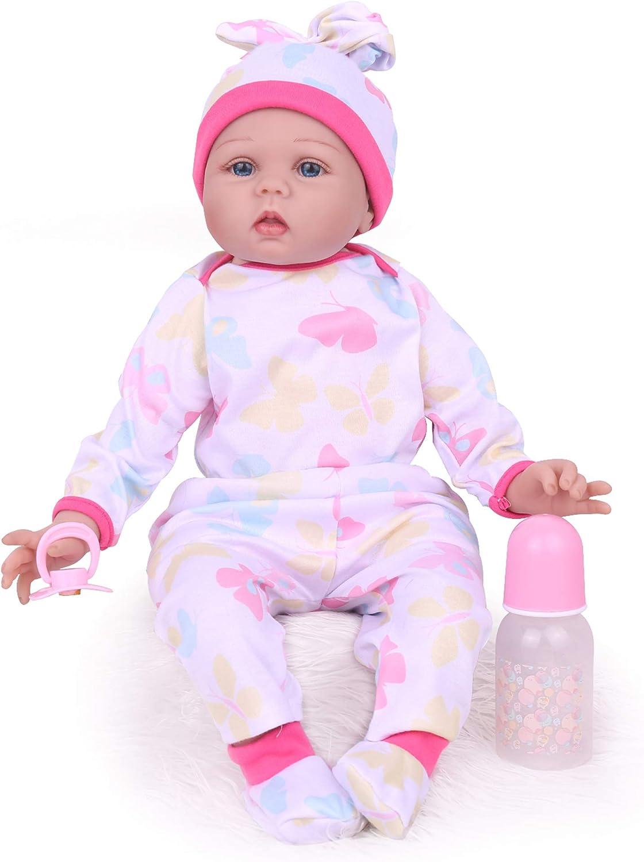 Adorable Vinyl Reborn Dolls Kids Toy Gift 22 Inch Lifelike Weighted Body Newborn Baby Kaydora Reborn Baby Doll Girl