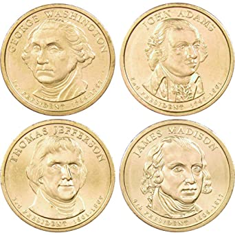 2014 P Presidential Dollar 4-Coin Set Uncirculated Mint State