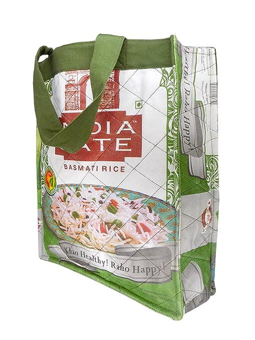 Gran bolsa de la compra de arroz bolsas - upcycle Fair Trade ...