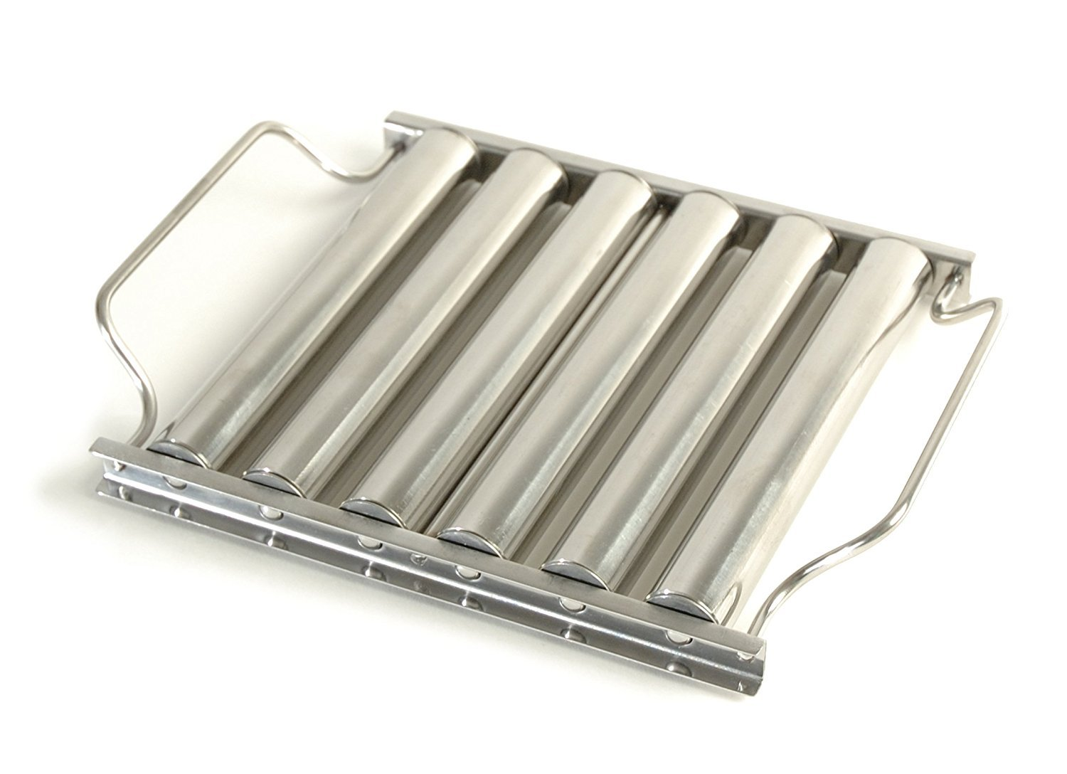 Charcoal Companion Stainless Hot Dog Roller Rack Best of Barbeque CC3039
