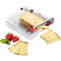 Westmark Germany Multipurpose Stainless Steel Cheese and Food Slicer with Board and Adjustable Thickness Dial (White) -