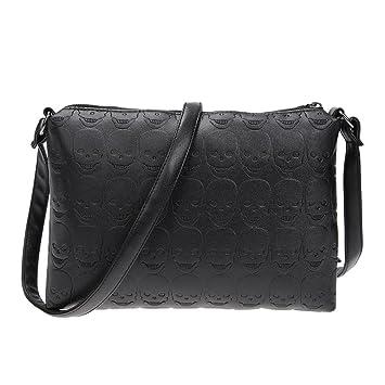 prettygood7 Small Shoulder Bag Women PU Leather Skull Zipper Envelope Messenger  Handbag  Amazon.co.uk  Pet Supplies 54a05ddddd944