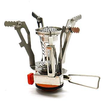 IDS - Estufa de cocina portátil para mochila, para cocina, butano, propano, quemador de gas con encendido piezoeléctrico, color naranja: Amazon.es: Hogar