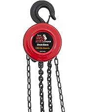 Torin TR9010 Big Red Chain Block/Manual Hoist with 2 Hooks, 1 Ton (2,000 lb) Capacity