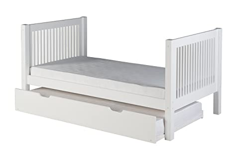 Amazon.com: Camaflexi C1022_TR Panel Style Solid Wood Platform Bed Twin Cappuccino: Kitchen & Dining