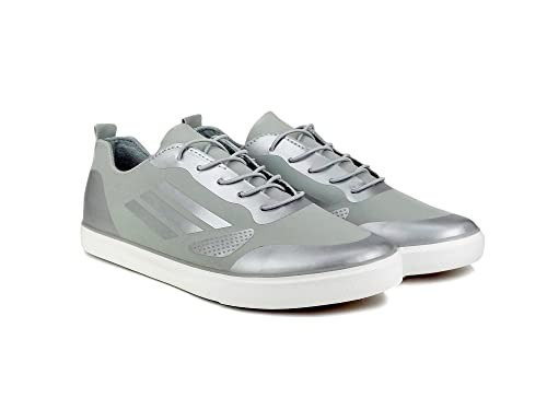 037f98c6e81 dockstreet Ripley Men s Chrome Sneaker Series Grey Leatherette Casual Shoes   Buy Online at Low Prices in India - Amazon.in