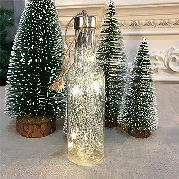 WI Luz de botella de Navidad, árbol de Navidad decoraciones ...