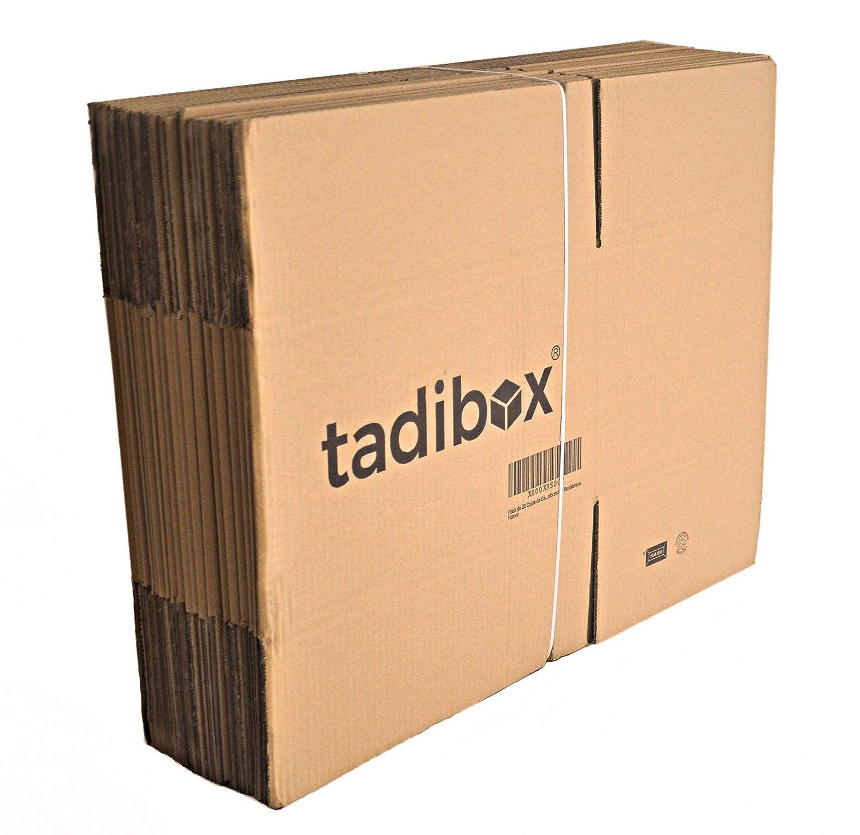 Pack 20 Cajas de Cartón Alta Resistencia - 440x300x250mm - VARIOS TAMAÑOS - Canal Simple Alta Calidad Reforzado - Cajas Mudanza y Almacenaje Fabricadas En ...