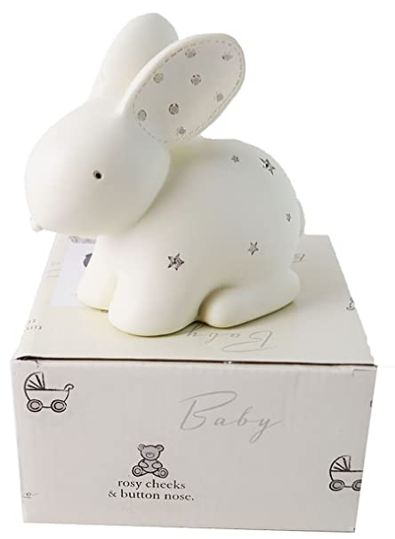 New Baby Rabbit Moneybox Christening Gifts Girls Boys Keepsake Present Gift