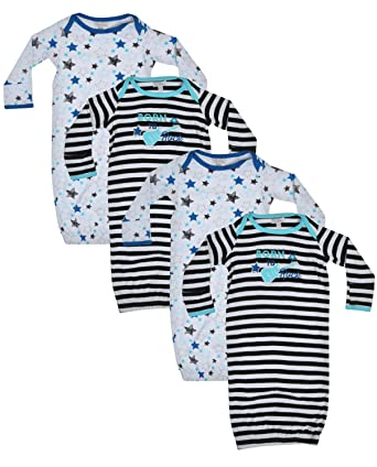 7ad12358f Amazon.com  Quiltex Boys  Toddler Born to Rock Sleeper Gowns 2 Pack ...