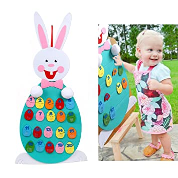 Aerwo felt bunny easter gifts number recognition games with easter aerwo felt bunny easter gifts number recognition games with easter eggs diy easter crafts for negle Gallery