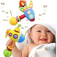 aovowog Sonajeros Juguetes Bebés 3 6 9 12 Meses,Montessori Muñeca de Peluche Felpa 1 2 Años,Vistoso Submarino Cohete…