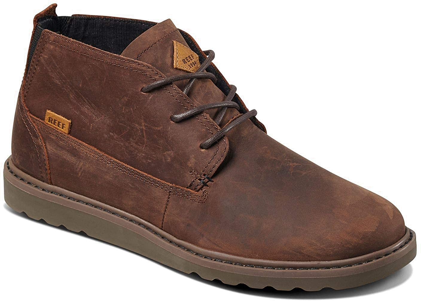 Chocolate Brown Reef Mens Voyage Boot Le Chukka Boot