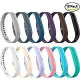 LEEFOX 12 Colors Fitbit Flex 2 Bands, Adjustable Fit Bit Flex 2 Accessories Silicon Replacement Wristbands w/Fastener Clasp Fitness Strap for Original Fitbit Flex 2, No Tracker
