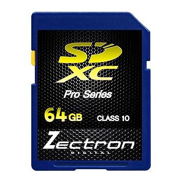 Amazon.com: Zectron Digital 64 GB SD XC Clase 10 SDXC HD ...