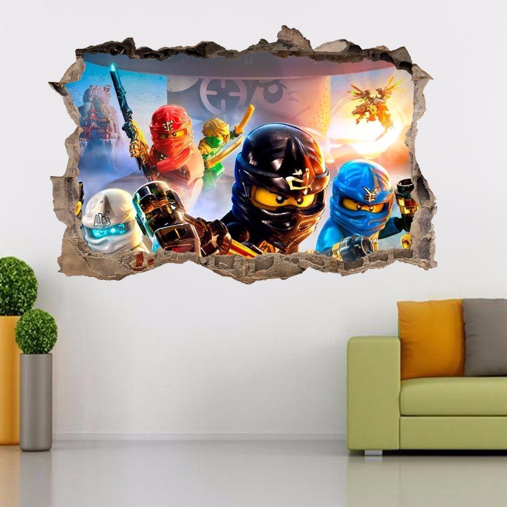 Amazon Lego Ninjago Smashed Wall 3d Decal Removable Graphic