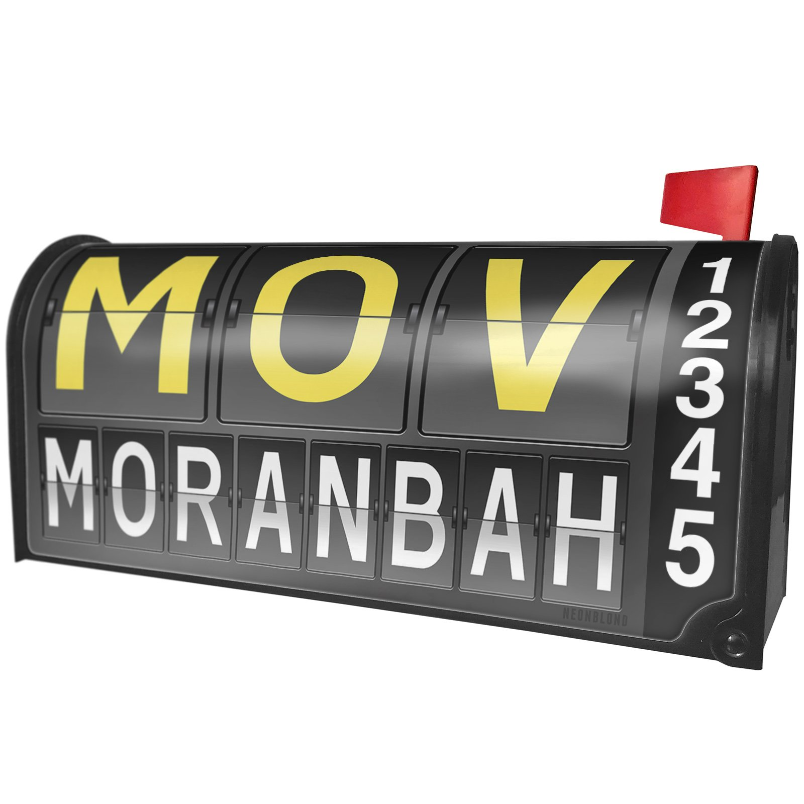 NEONBLOND MOV Airport Code for Moranbah Magnetic Mailbox Cover Custom Numbers