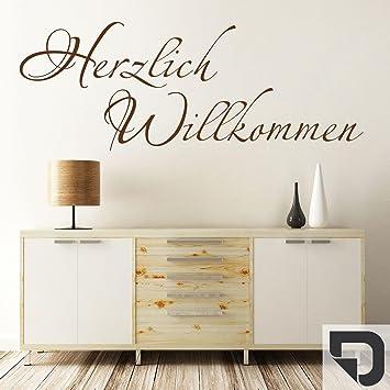 DESIGNSCAPER Wandtattoo Herzlich Willkommen Schriftzug
