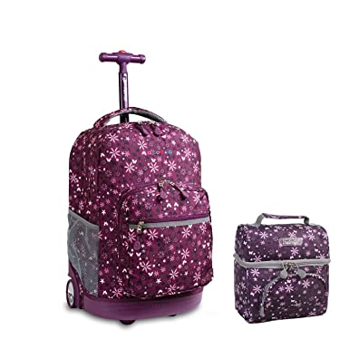 45e8bd3f85 Image Unavailable. Image not available for. Color: J World New York Sunrise  Rolling Backpack & Corey Lunch bag ...