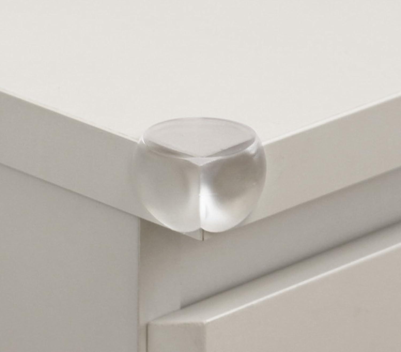 Eckenschutz J-PG® Tischkanten-Eckschutz/Corner Protection für Babys und Kleinkinder - Transparent Rund (12)