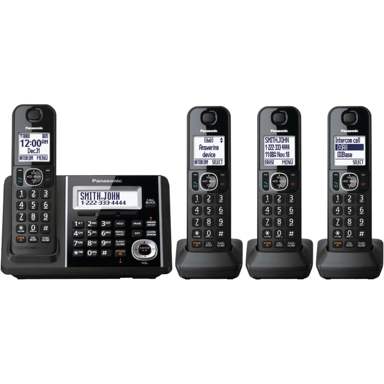 amazon com panasonic kxtgf343b dect 3 handset landline telephone rh amazon com Panasonic Kx Instruction Manual panasonic cordless phone kx-tg9341t manual