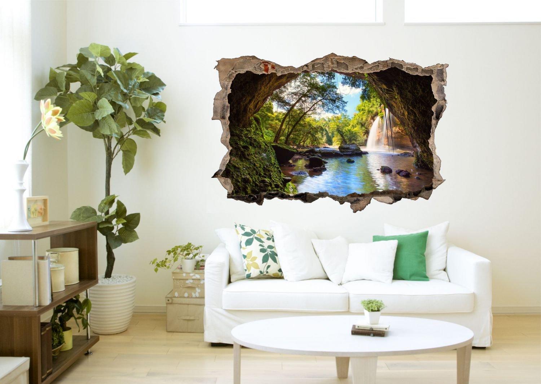 Wasserfall Höhle Bäume Wandtattoo Wandsticker Wandaufkleber Wandaufkleber Wandaufkleber D0455 Größe 120 cm x 180 cm B07C9MZ7KJ Wandtattoos & Wandbilder 437dda