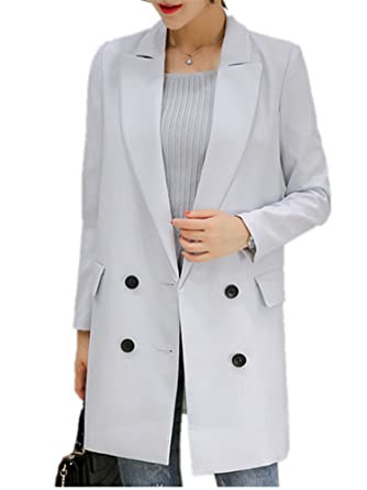 Robin Santiago New Autumn Long Women Blazers Single Button ...