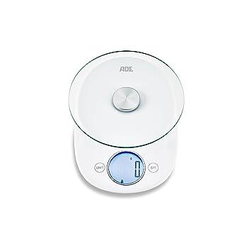 Báscula de cocina digital KE1705 Carla - Cálculo preciso de hasta 5 kgs, estilo retro compacto, color blanco: Amazon.es: Hogar