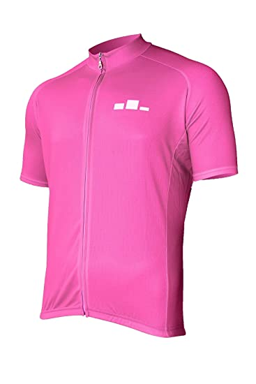 Amazon.com  Corbah Men s Solid Pink Cycling Jersey  Clothing 4ea88358a