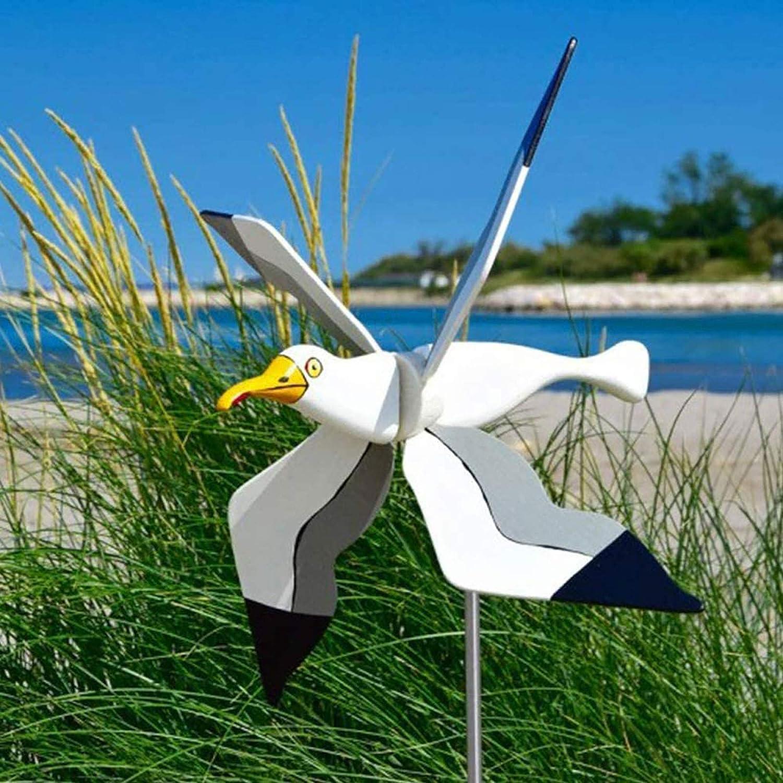 Baikk Whirligig Asuka Series Windmill Garden Decoration Flag, Flying Birds Garden Whirligigs Windmill Spinner Garden Ornaments, Outdoor Lawn Decorative Yard Decor Windmills Ornaments (A)