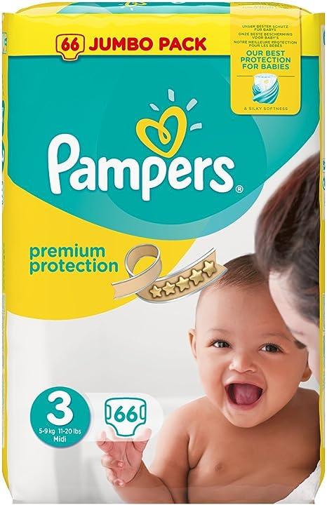 Pampers – Jumbo de protección Pack, Tamaño 3 – 66 Pañales: Amazon ...